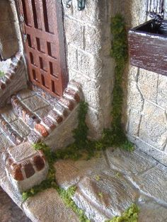 Mossy Dollhouse - adding moss to age and add character to house and garden