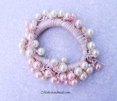 Crochet beads hair elastic tutorial.