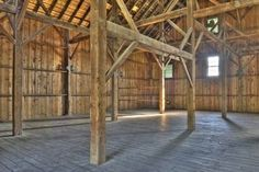 How to Build a Pole Barn :: interior look