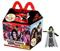 """The Rocky Horror Picture Show"" Happy Meal... I own that Frankenfurter action figure :)"