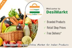 DesiMarkt is highly preferred Online Switzerland's largest Indian grocery store at very reasonable prices. Indian Grocery Store, Shop Price, Retail Shop, Switzerland, Money, Fruit, Shopping, Food, Silver