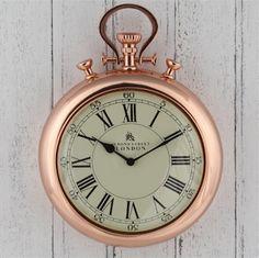 Bond Street London Copper wall Clock Copper Furniture, Barker And Stonehouse, White Clocks, Kitchen Clocks, Wall Clock Online, Copper Wall, Bond Street, Kare Design