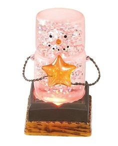 Flying Cloud Gifts is proud to be selling S'mores Original ornaments including Smores Ornaments, SMores night lights and Smore blown glass ornaments. S'mores Figurines are on sale now, so get yours today! Shimmer Lights, Christmas Decorations, Christmas Ornaments, Gold Stars, Glass Ornaments, Candle Sconces, Night Light, Snow Globes, Wall Lights