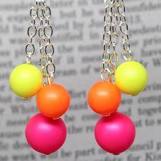 Multi Neon Earrings - by elandradesigns on madeit