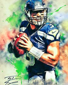 Russell Wilson Poster by Zapista OU