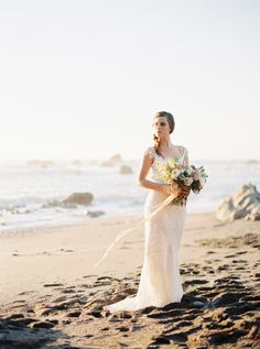 Photography: Jeremiah And Rachel Photography - jeremiahandrachel.com  Read More: http://www.stylemepretty.com/2015/03/24/sunset-bodega-bay-wedding-inspiration/