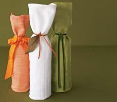 Simple Magazine's wine wrapped in a dish towel (gift wrap) #diy
