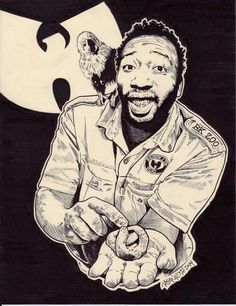 aaah I can draw myself as ODB Old Dirty Bastard aka Dirt McGirt its he cleanest thing alive