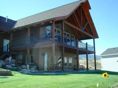 A daylight shot of a Bear Lake Cabin that is located next to a golf course! It looks stunning doesn't it? #BearLake