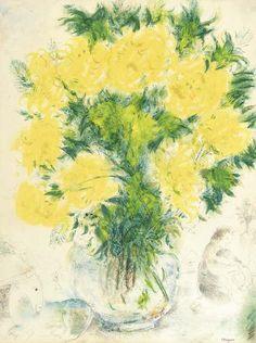 Vase de fleurs, Marc Chagall. (1887 - 1985)