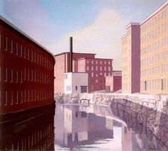 Amoskeag Canal, Charles Sheeler.