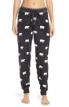 Free shipping and returns on PJ Salvage Fleece Lounge Pants at Nordstrom.com. A cute, cozy pattern colors theses toasty fleece joggers with stretchy banding sealing in the warmth at the drawcord waist and tapered hems.