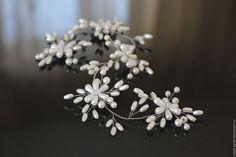 Купить Свадебное украшение в прическу. Украшение для невесты - свадебное украшение, украшение для невесты, украшение для волос