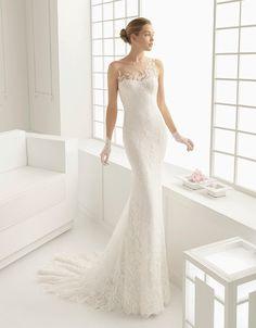 @Bellethemagazine wedding dresses | Rosa Clara Collection | Floor Ivory Sheath Illusion $$$$$ ($5,001 and up)