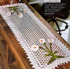Linhas, Lãs, Barbantes e Tecidos: Centro de Mesa em Crochê - Copo de Leite