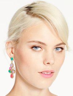 pretty spring coloured earrings | Balloon bouquet chandelier earrings | Kate Sapde