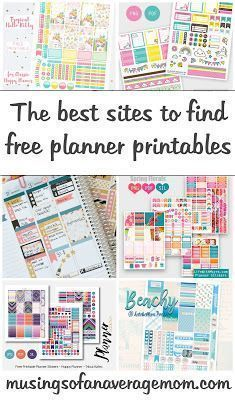 Where to Find Free Happy Planner Printables 15 sites you can find beautiful happy planner printable kits in various themes To Do Planner, Planner Tips, Planner Layout, Free Planner, 2015 Planner, Mini Happy Planner, Planner Supplies, Project Life Planner, College Planner