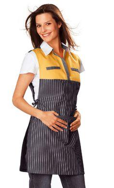 одежда Diy Old Jeans, Boy Haircuts Long, Uniform Shop, Restaurant Uniforms, Work Fashion, Fashion Tips, Sewing Aprons, Uniform Design, Apron Dress