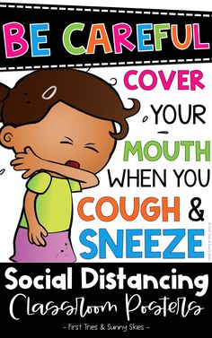 Social Distancing Posters for Kids - Healthy Habits Posters - Promote healthy habits with this colorful set of 27 social distance posters! Prevent the spread of germs by hanging these signs throughout your primary or intermediate classroom. Each poster displays a healthy habit with pictures and colorful easy-to-read words! #covid #pandemic #primary #elementary #posters #health #classroom #socialdistancing #middleschool #healthposters #covid19 #intermediate #bulletinboards #1stgrade #2ndgrade Cool Bulletin Boards, Classroom Bulletin Boards, Classroom Posters, Classroom Decor, Healthy Kids, Healthy Habits, Middle School, Back To School, Learning Resources