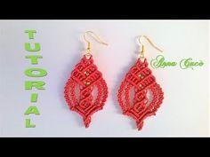"Tutorial macramè orecchini ""Eva""/ Tutorial macramè earrings ""Eva""/ Diy tutorial - YouTube"