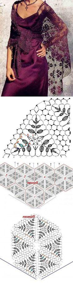 Thin shawl crochet scheme. How to tie a thin shawl crochet | Domovodst | Shawl | post