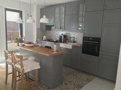 Ikea kitchen grey Metod system