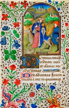 Thumbnail personification of Gula, riding on the back of a wolf, from the Dunois Hours, France (Paris), c. 1440-c. 1450 (after 1436), Yates MS Thompson 3, f. 168v.    Miniatura da personificação da Gula, cavalgando o dorso de um lobo, a partir das Horas Dunois, França (Paris), c. 1440-c. 1450 (depois de 1436), Thompson Yates MS 3 , f. 168v.