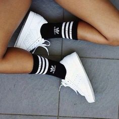 Socks: adidas tumblr aesthetic shoes ❤ liked on Polyvore featuring shoes, adidas footwear, adidas and adidas shoes