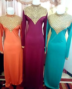 Daisy ABayas Material Spandex  Beads Embroidery
