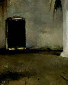 Helene Schjerfbeck, The door (1884)