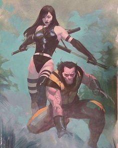 X-Men - Psylocke - Wolverine - Esad Ribic Comic Book Artists, Comic Book Characters, Comic Artist, Marvel Characters, Comic Character, Comic Books Art, Nightwing, Batwoman, Comics Anime