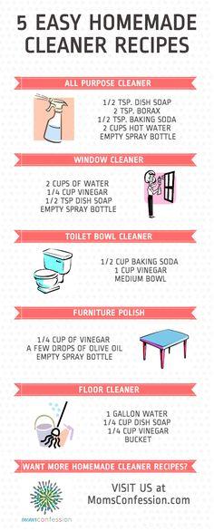 5 Easy Homemade Cleaner Recipes