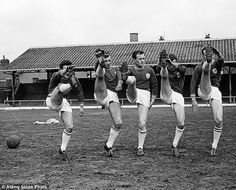 Leicester's Howard Riley, Graham Cross, Ken Keyworth, David Gibson and Mike Stringfellow are seen on the bare pitch David Gibson, Ice King, Leicester, Pitch, Graham, Football, Concert, Sports, Soccer