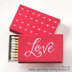 LOVE Personalized Match Boxes 25  Wedding by PicturePerfectPapier