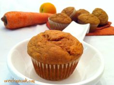 Healthy-Orange-Carrot-Muffins - need to substitute agave, splenda and soy slimmer (? whatever that is!)
