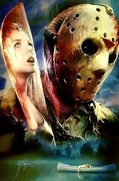 Scary looking adorable Head turns and looks amazing Jason Voorhees as never seen before Horror Movie Characters, Horror Movie Posters, Horror Icons, Horror Films, Tattoo Bein, Horror Artwork, Horror Pictures, Kino Film, Horror Show
