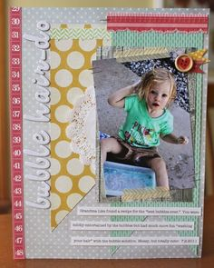 Five is Fun! (July Bubble Hair-do Scrapbooks, Your Hair, Bubbles, Kids Rugs, Entertaining, Simple, Frame, Layouts, Cute