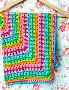 blanket - love the bright colours