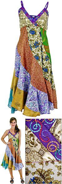 Silk Mirage Recycled Sari Sundress at The Hunger Site