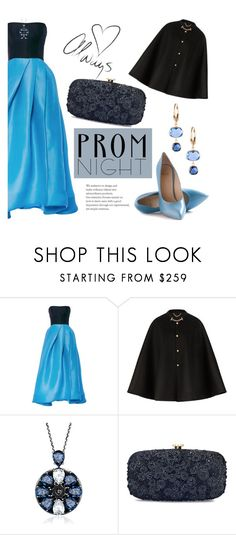 """""""The Perfect Prom Night"""" by katyusha-kis ❤ liked on Polyvore featuring Monique Lhuillier, Burberry, Oscar de la Renta, Belk & Co., Prom and PROMNIGHT"""