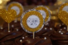 The End of the Roaring 20's Great Gatsby Cupcake Toppers