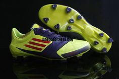 Adidas F50 Adizero 2012 miCoach Leather FG Yellow Blue Red UEFA Champions League Soccer Cleats