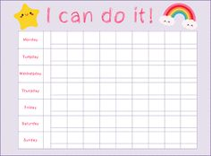 Girl's Potty Training Chart || Scribbles & Such