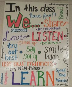 In this class WE... poster  It was fun creating this!!!