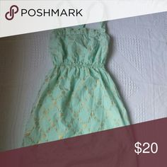 Temporary price drop! Summer dress Women's size xs mint green dress with gold  print. Dresses Mini