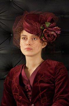 Stunning!  #hats #annakarenina #millinery      Keira Knightley as Anna Karenina, Anna Karenina (2012)