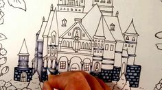 Tutorial - ROMANTIC COUNTRY coloring book - color with me