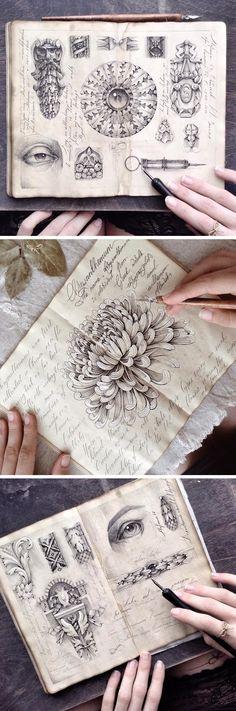 Elegant Dip Pen Illustrations Inside the Sketchbooks of Elena Limkina