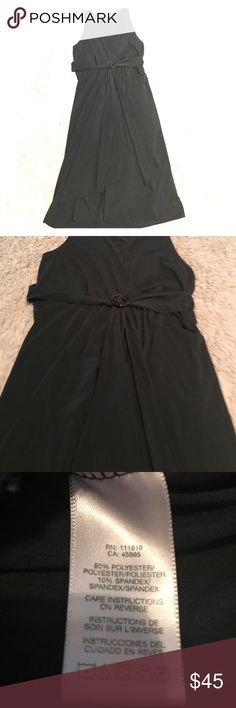 """EUC Michael Korea Matte Jersey Little Black Dress Gorgeous, liked new matte jersey little black dress by Michael-Michael Kors. Worn once. Tag says large but fits like a medium or size 10. Measures Approx 18"""" flat across front, armpit to armpit. Approx 45"""" from shoulder to hemline. Waist area measures approx 15"""" flat across front. MICHAEL Michael Kors Dresses Midi"""