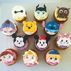 #TsumTsum #cupcakes !!! Yay!! We love Tsum Tsum and we've been creating cupcakes & cakes every week with this theme!! They are so popular!! Today we have Baymax, Maleficent, Sven, Eeyore, Pooh, Stitch, Mickey, Minnie, Marie, Anna, Elsa & Kristoff! #disney #disneytsumtsum
